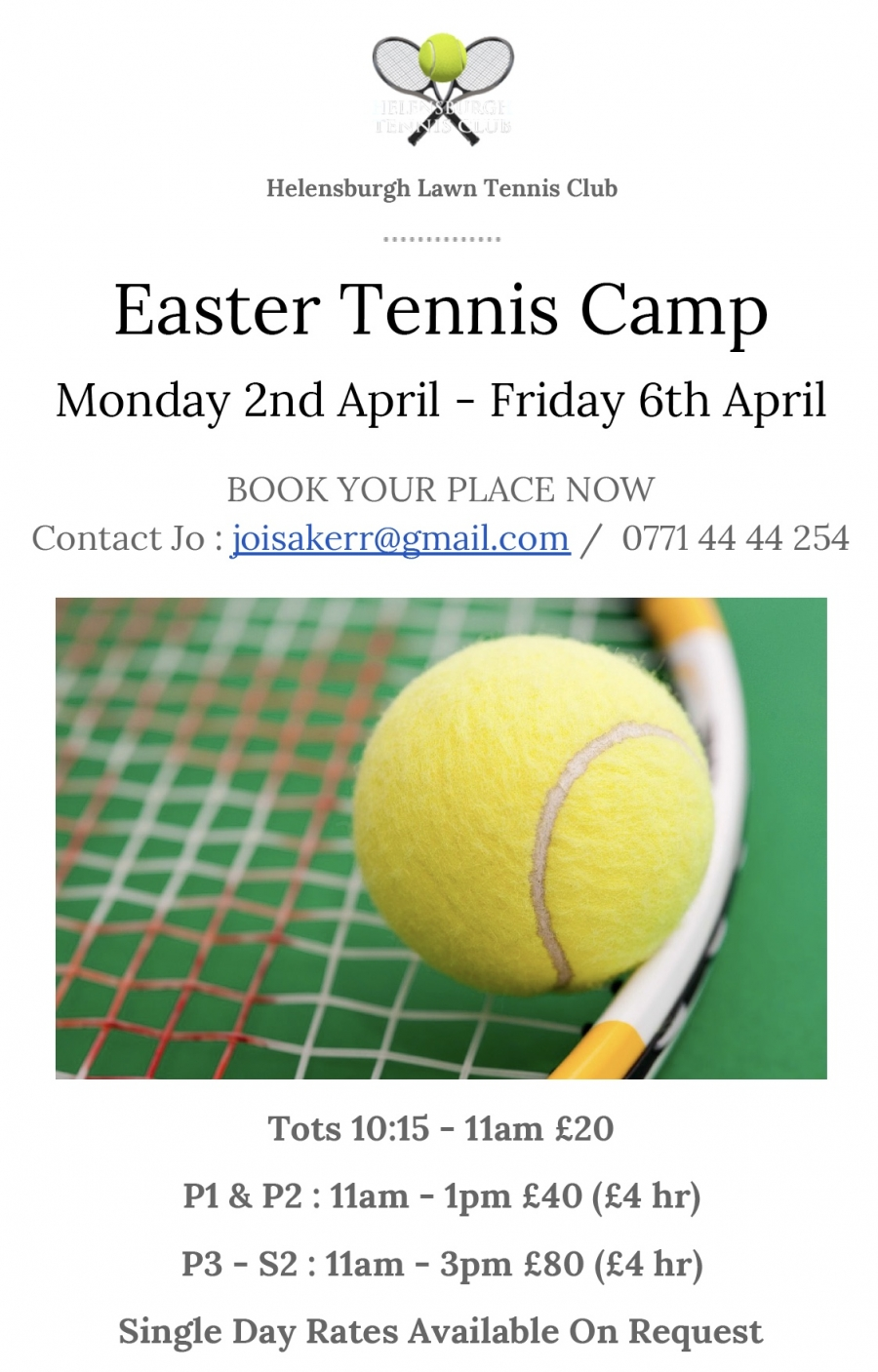 Book now for Easter Camp